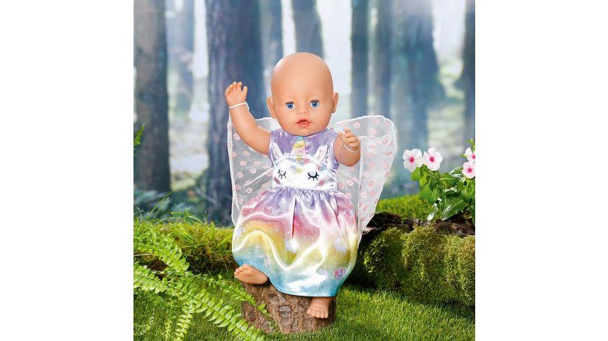 Zapf Creation - BABY born Einhorn Feen Outfit 43cm - Ein zauberhaftes Kleid mit zarten Flügelchen.