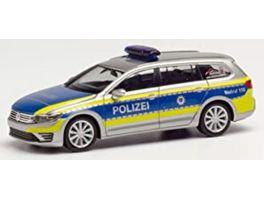 Herpa 095020 Volkswagen Passat GTE Polizei Hessen