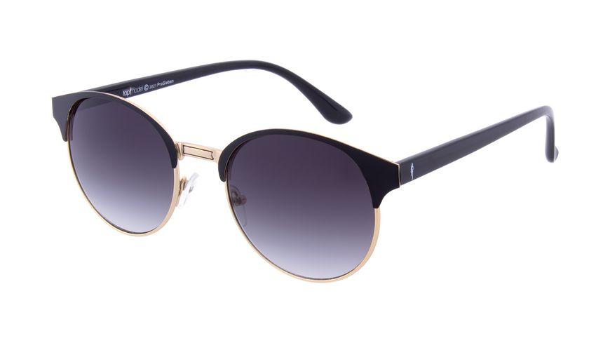 GNTM Sonnenbrille Gold mit Schwarzen Farbakzenten