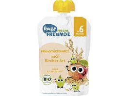 Freche Freunde Bio Fruehstuecksbrei nach Bircher Art