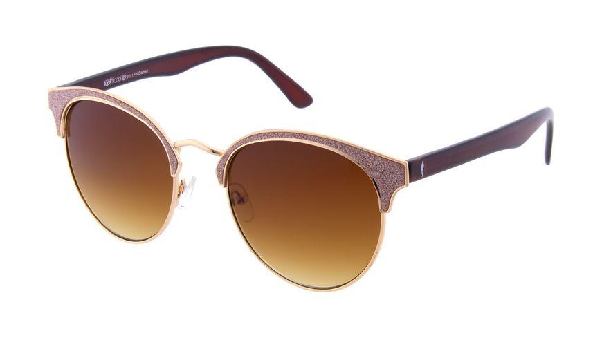 GNTM Sonnenbrille in Gold mit Rosa Glitzer Akzenten