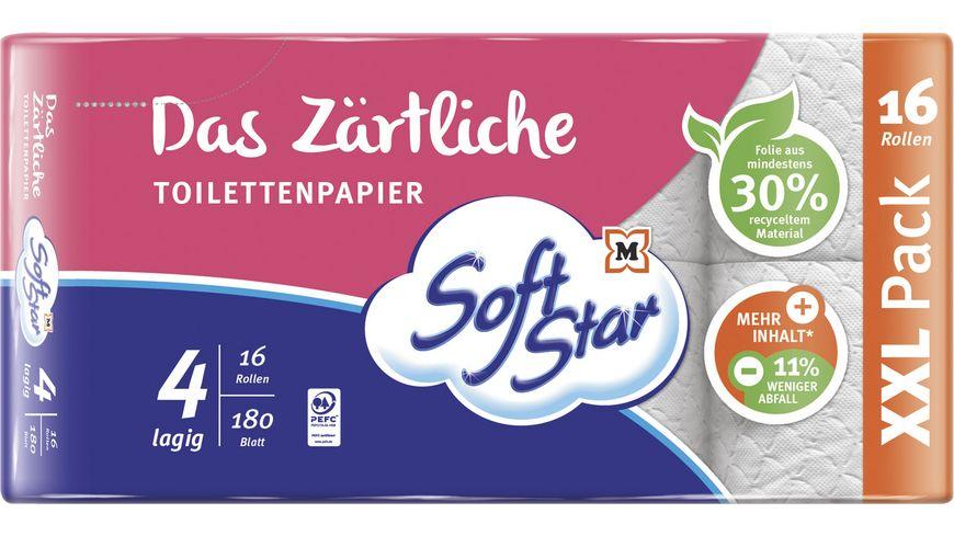 SoftStar Das Zärtliche Toilettenpapier 16x180 Blatt, 4-lagig
