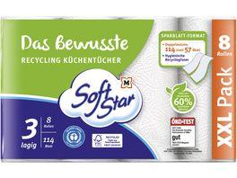 SoftStar Das Bewusste Recycling Kuechentuecher 8x114 Blatt 3 lagig