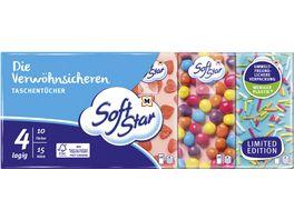 SoftStar Die Verwoehnsicheren Taschentuecher 15x10 Tuecher 4 lagig