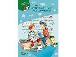 LESEMAUS zum Lesenlernen Sammelbaende Das grosse Jungs Buch zum Lesenlernen Einfache Geschichten zum Selberlesen Lesen lernen ueben und vertiefen