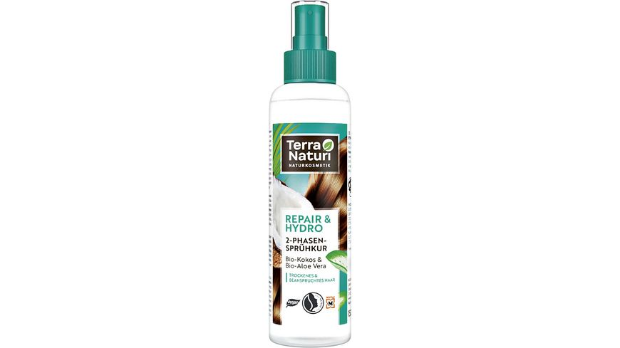 Terra Naturi 2-Phasen Sprühkur Repair & Hydro Bio-Kokos & Bio-Aloe Vera
