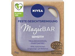 NIVEA MagicBAR Sensitiv Feste Gesichtsreinigung mit Traubenkernoel