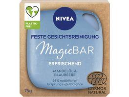 NIVEA MagicBAR Feste Gesichtsreinigung mit Mandeloel Blaubeere