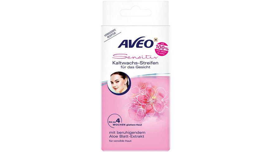 AVEO Kaltwachs-Streifen für das Gesicht mit Aloe Blatt-Extrakt