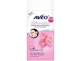 AVEO Kaltwachs Streifen fuer das Gesicht mit Aloe Blatt Extrakt