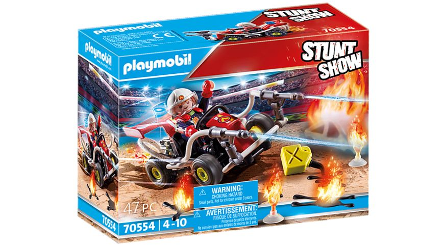 PLAYMOBIL 70554 - Stuntshow Feuerwehrkart