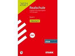 Original Pruefungen Realschule 2021 Deutsch Bayern nur online erhaeltlich