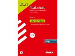 Original Pruefungen Realschule 2021 Mathematik I Bayern nur online erhaeltlich