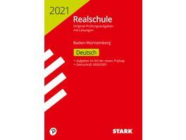 Original Pruefungen Realschule 2021 Deutsch BaWue nur online erhaeltlich