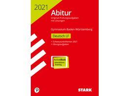 Abiturpruefung BaWue 2021 Deutsch Leistungsfach Ausgabe mit ActiveBook nur online erhaeltlich