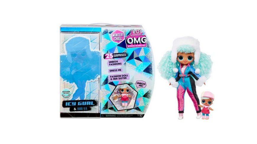 LOL Surprise O.M.G. Winter Chill Icy Gurl Fashion Puppe & Brrr B.B. Puppe mit 25 Überraschungen