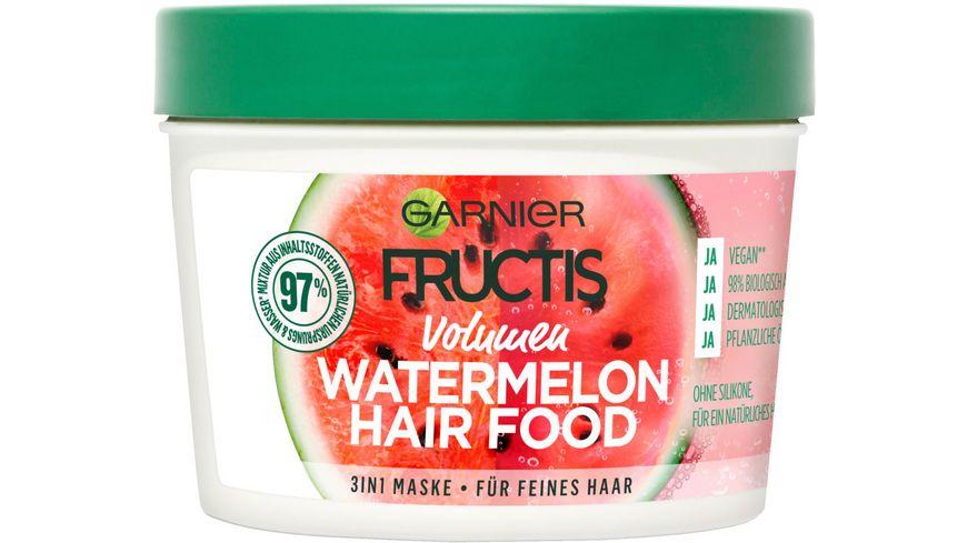 GARNIER FRUCTIS Volumen Watermelon Hair Food 3-in-1 Maske