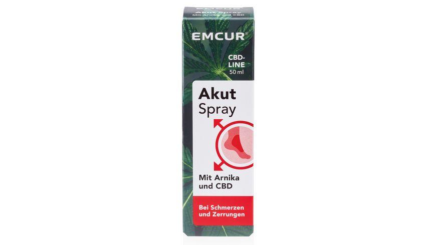 EMCUR Akut Spray mit Arnika und CBD