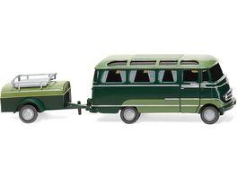 WIKING 026004 1 87 Panoramabus mit Anhaenger MB O 319