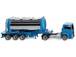 WIKING 053605 1 87 Tankcontainersattelzug Swap MAN TGS Euro 6c himmelblau