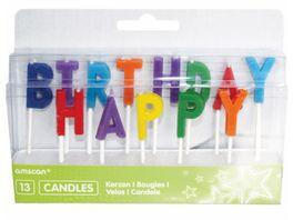Amscan Buchstabenkerzen Happy Birthday 13 Stueck