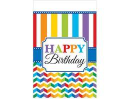 Amscan Tischdecke Bright Birthday Plastik