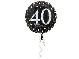 Amscan Sparkling Birthday 40 Folienballon S55