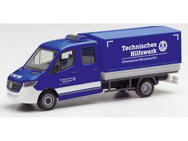 Herpa 95525 Mercedes Benz Sprinter 18 Doppelkabine THW Muenchen Ost