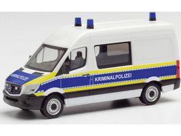 Herpa 95563 Mercedes Benz Sprinter 13 Halbbus Kriminalpolizei Brandenburg