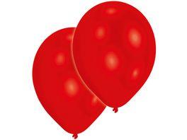 Amscan Latexballons Rot 27 5cm 11 10St