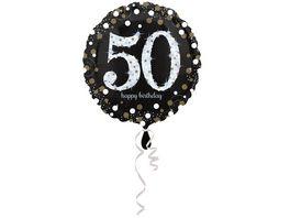 Amscan Sparkling Birthday 50 Folienballon S55