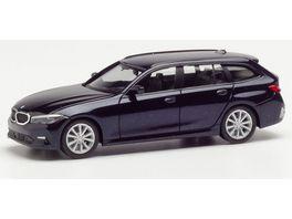 Herpa 430821 BMW 3er Touring tansanitblau metallic