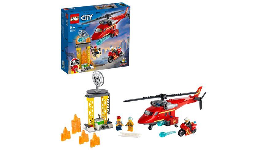 LEGO 60281 City Feuerwehrhubschrauber, Konstruktionsspielzeug