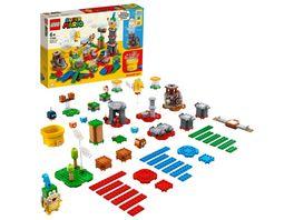 LEGO 71380 Super Mario Baumeister Set fuer eigene Abenteuer Spielzeug
