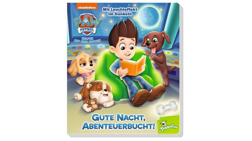 PAW Patrol: Gute Nacht, Abenteuerbucht! - Pappbilderbuch mit Leuchteffekt im Dunkeln