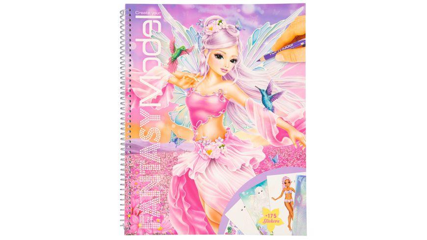 Create your Fantasy Model - Malbuch mit Stickern