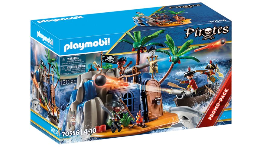 PLAYMOBIL 70556 - Pirates - Pirateninsel mit Schatzversteck