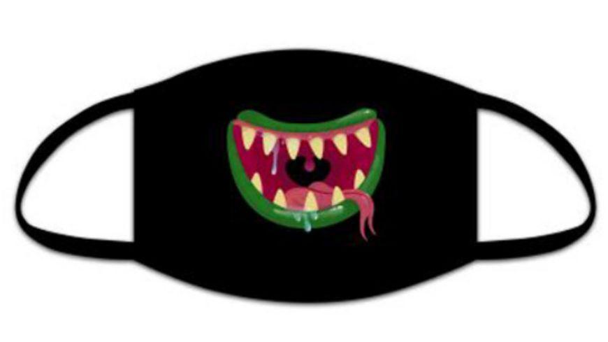 Hergo Mund- und Nasenmaske für Kinder Monstersmile