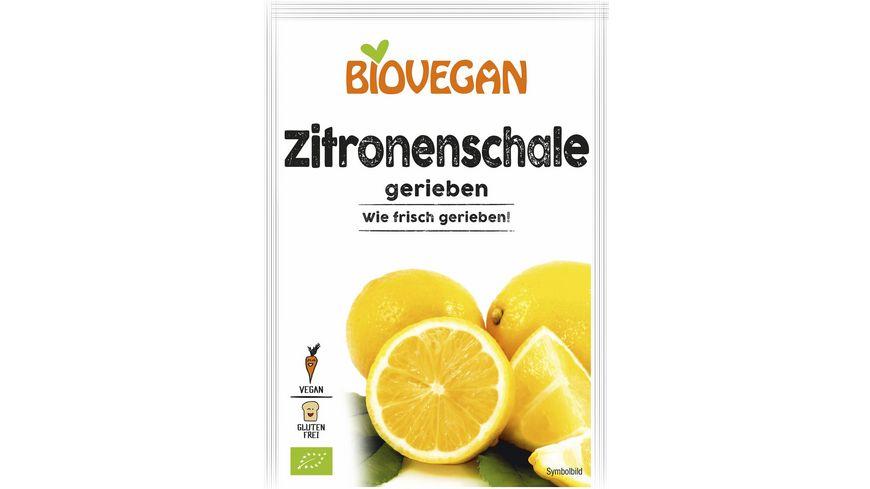 Biovegan Zitronenschale gerieben