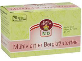BERGKRAeUTER Bio Muehlviertler Bergkraeuter Tee im Doppelkammerbeutel
