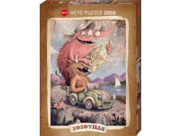 Heye Standardpuzzle 2000 Teile Zozoville Road Trippin