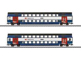 Maerklin 43574 Doppelstockwagen Set Zuericher S Bahn