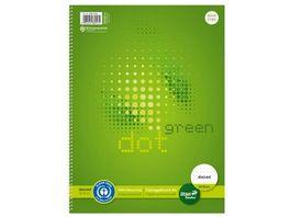 Ursus Green Collegeblock A4 80 Blatt punktkariert