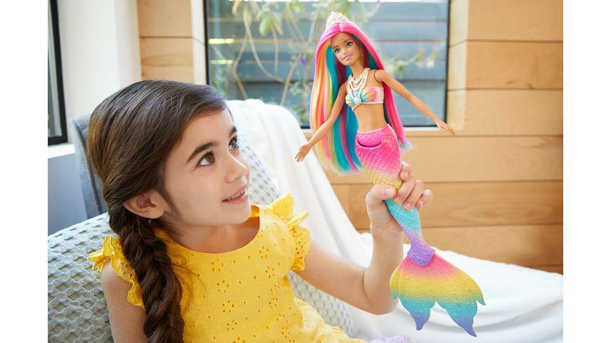 Mattel Barbie Dreamtopia Regenbogenzauber Meerjungfrau mit Farbwechsel