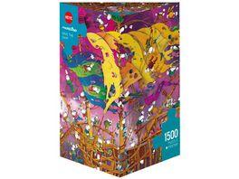 Heye Dreieckpuzzle 1500 Teile Save The Ship Cartoon im Dreieck
