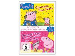 Peppa Pig Prinzessin Peppa Sir Schorsch der Mutige Peppa Pig Champion Papa Wutz und andere Geschichten 2 DVDs