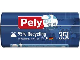 Pely KLIMA NEUTRAL 95 Recycling Zugband Beutel 35 Liter
