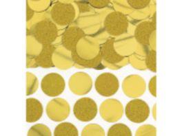 Amscan Konfetti Scheiben gold Glitzer Folie 63 g