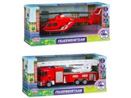 Mueller Toy Place Fahrzeug Feuerwehrteam 2 fach sortiert 1 Stueck