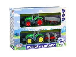 Mueller Toy Place Traktor mit Anhaenger 2er Set 4 fach sortiert 1 Stueck